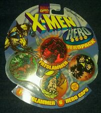 Vintage 1995 Marvel hero caps pogs fatslammer toy biz nightcrawler xmen cyclops