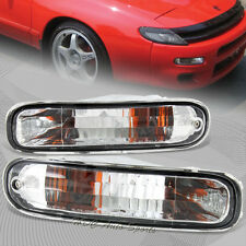For 1990-1993 Toyota Celica Clear Lens Front Corner Bumper Lights Lamps DEPO