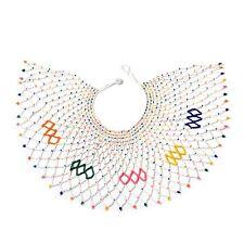 Collar Babero Blanco Semilla Handcrafted 50.8cm Completo Multicolor Vidrio