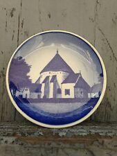 Royal Copenhagen Mini Plate Osterlars Kirke Bornholm Blue & White Denmark