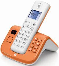 Motorola T211 Orange Schnurlostelefon mit Anrufbeantworter ECO-DECT BRANDNEU