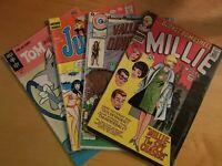 Lot of 4 random comics Millie the Model, Hanna barbera, Archie, Tom & Jerry