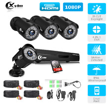 XVIM  8CH 1080P DVR Outdoor Security CCTV System Night Vision Camera 1TB HDD UK
