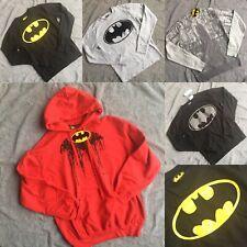 Batman Bat Man Adulto para Hombre Mujer Puente Damas Pull Over Logo Unisex Gris Negro