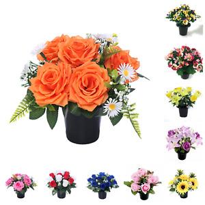Artificial/Silk Flower Memorial Vase Grave Pot/Insert Cemetery/Crematorium