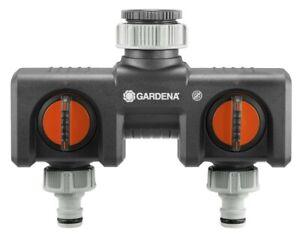 Gardena 2-Wege-Verteiler Stufenlos verstellbar 2 Anschlüsse Wasserhahn