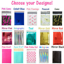 6x10 Metallic Bubble Mailer Poly Design Padded Shipping Envelope Bagspinkteal