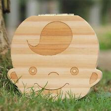 Boîte à Dents de Lait Rangement Bois Idée Cadeau de Naissance pour Garçon - NeuF