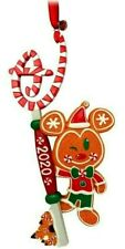 Disney Store 2020 Gingerbread Key Mickey Mouse Sketchbook Ornament New