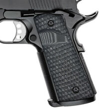 1911 Full Size G10 Grips Magwell Ambi Safety Big Scoop Cut Gray Black H1M-J8MB-5
