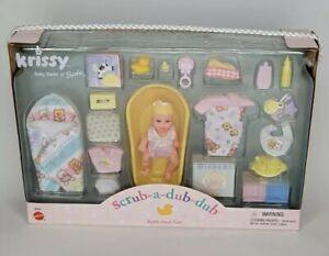 Mattel Krissy Scrub-a dub-dub bath time fun playset #26897 RARE Barbie's lil sis