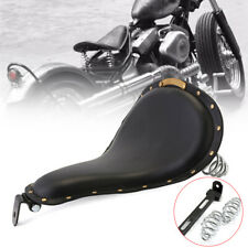 Leather Solo Driver Seat Sliver Spring Bracket Mount Kit For Harley Dyna Softail
