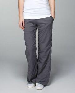 LULULEMON Soot. Gray LINED STUDIO PANTS. EUC. size 8.