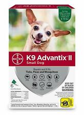 K9 Advantix Ii for Small Dogs 4-10 lbs - 6 Pack - New