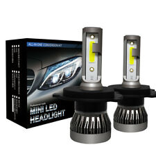 2 x H4 LED Headlight Conversion Kit COB Bulb 110W 28000LM White High Power 6000K