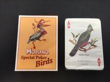 CARTE DA GIOCO MODIANO SPECIAL POKER BIRDS PLASTICATE E SIGILLATE