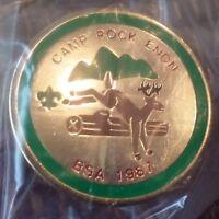 Camp Rock Enon BSA 1987 lapel pin pre-owned