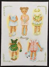 Judith Yates Mag. Paper Doll, Little Girl Named Mindy, Uncut