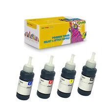 4PK Compatible T6641 - T6644 Dye Ink Bottles for Epson L100 L120 L130 L350 L375