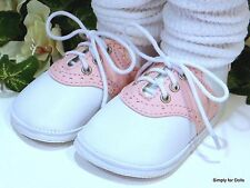 """MY TWINN Pink & White Saddle Oxford DOLL SHOES fits 23"""" Poseable Doll"""