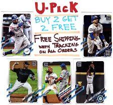 2021 Topps Series 1 Baseball, Base Set 1-199, RC, Buy 2 Get 2 FREE, Ships FREE