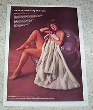 1969 ad page - Emba mink furs SEXY nude girl Alixandre fur coat vintage ADVERT