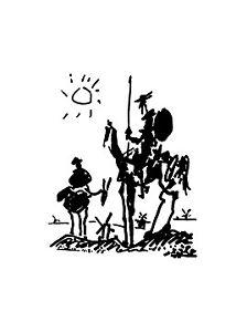 Pablo Picasso Don Quichotte Poster Kunstdruck Bild 80x60cm