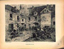 Ferme de Villers-Cotterêts Poilus Soldats contre Feldgrau Paul Madeline 1915 WWI