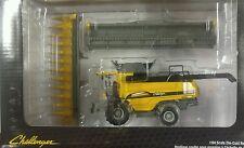 NEW! 1/64 Challenger 540E combine w/ wide singles, corn head & draper, Spec Cast