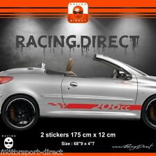 Sticker PEUGEOT 206cc 206 cc Hdi plus aufkleber adesivi pegatina  00DZ R