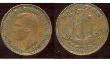 ROYAUME UNI - GREAT BRITAIN  half penny 1942   ( etat )