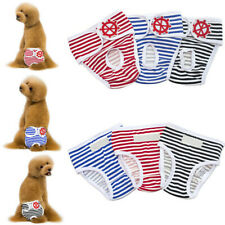 3 Colors Washable Female Dog Diaper Reusable Doggie Diaper Wraps for Female Dogs