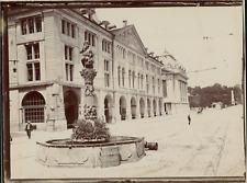 Suisse, Berne, La fontaine de l'Ogre, ca.1906, vintage citrate print Vintag