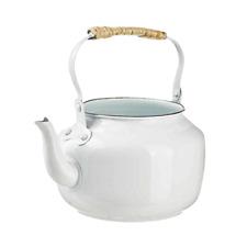 Teekessel zum bepflanzen Pflanztopf Blumentopf Zinktopf Weiß 20 x 18 cm
