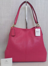 Authentic Coach Leather Phoebe in Dahlia MSRP $395