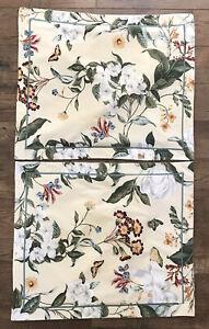 Crown Crafts Williamsburg Garden Images Magnolia Standard Pillow Shams USA MADE