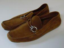 Salvatore Ferragamo suade leather  Horsebit Driving Shoes Loafers 11 D