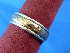 Sterling Silver 14k Gold Filled White Manufacturing Co. Ring Size 9 Hallmarked