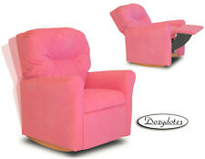 Child Rocking Chair Recliner - Pink Microfiber