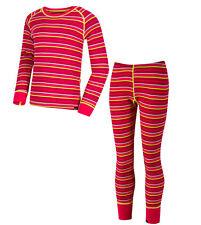 Regatta Kids Base Layer Set Tops and Bottoms Thermals Elatus & Nessus Bright Blush 5 - 6 Years