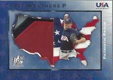 2006-07 Usa Baseball Patriotic Patches #23 Casey Weathers jersey /20 - Nm-Mt