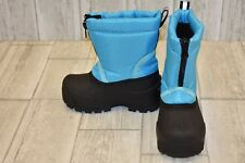 Northside Kids Icicle Snow Boots, Toddler's Size 7, Turquoise/Black NEW
