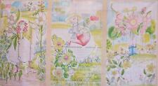 Garden Girls In the Garden 3 Block Blend Cori Dantini Fabric Panel
