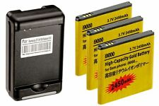 3 X 2450mAh High Capacity Batteries + Charger for Samsung Galaxy S2 Epic 4G D710