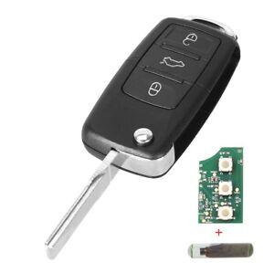 f. VW Seat Skoda Auto Schlüssel Platine 1J0959753DA 433 MHz + Chip ID48 VRK02F