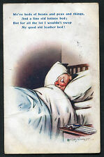Posted 1917 Comic/Cartoon: Man in Bed: My Good Old Feather Bed