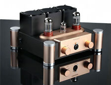 6SN7+ECC83 Vacuum Tube Headphone Amplifier Class A Stereo Audio Amp Hi-Fi Preamp
