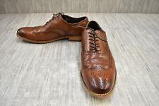 Stacy Adams Dunbar Wingtip Oxford 25064-221 Dress Shoes, Men's Size 9M, Cognac