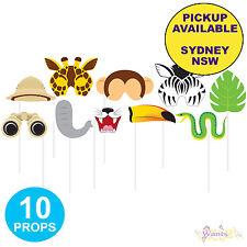 Jungle Safari Animals Party Supplies 10pk Photo Booth Props Zoo Decorations