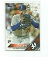 JULIO URIAS (Los Angeles Dodgers) 2016 TOPPS HOLIDAY MEGA ROOKIE CARD #HMW26